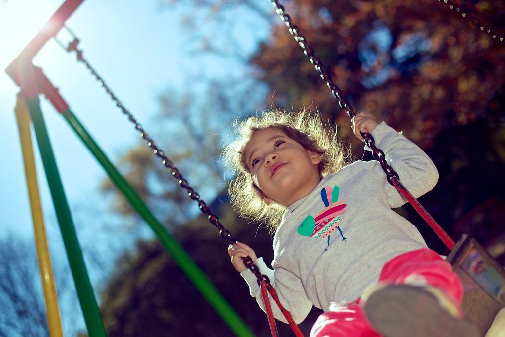 Kind voor het eerst alleen buiten spelen